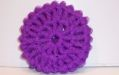 PURPLE NYLON NETTING SCRUBBIE